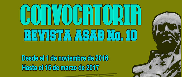 CONVOCATORIA REVISTA ASAB N° 10 DE 2016